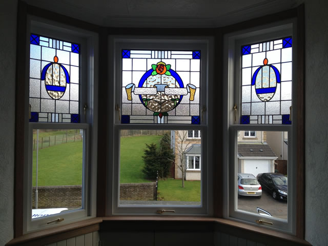 Stained glass windows timber windows solutions glasgow for Window companies